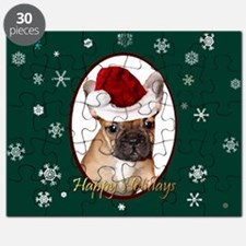 Christmas French Bulldog Puzzle