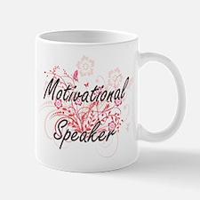 Motivational Speaker Artistic Job Design with Mugs
