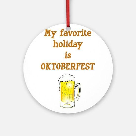 Oktoberfest Round Ornament