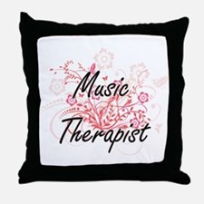 Music Therapist Artistic Job Design w Throw Pillow