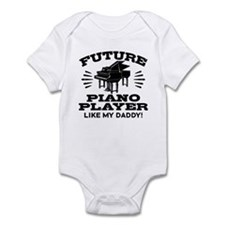 Future Piano Player Like My Daddy Infant Bodysuit