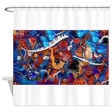 Piano Music Guitar Sax Musicial ins Shower Curtain