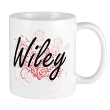 Wiley surname artistic design with Flowers Mugs