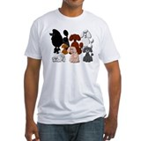 Dogs Fitted Light T-Shirts