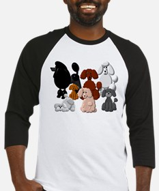 TINY POODLE PACK COLLAGE Baseball Jersey