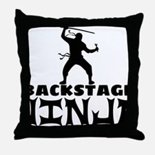 Cute Backstage Throw Pillow