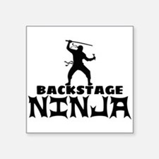 "Stage manager Square Sticker 3"" x 3"""