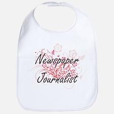 Newspaper Journalist Artistic Job Design with Bib