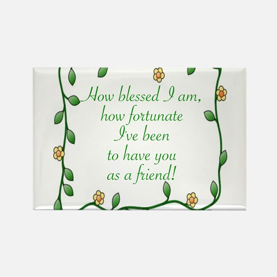 Cute Blessed Rectangle Magnet