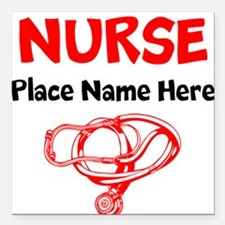 "Nurse Square Car Magnet 3"" x 3"""