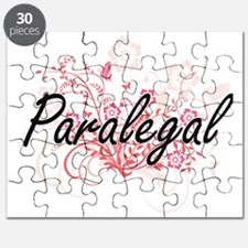 Paralegal Artistic Job Design with Flowers Puzzle
