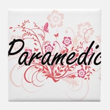 Paramedic Artistic Job Design with Fl Tile Coaster