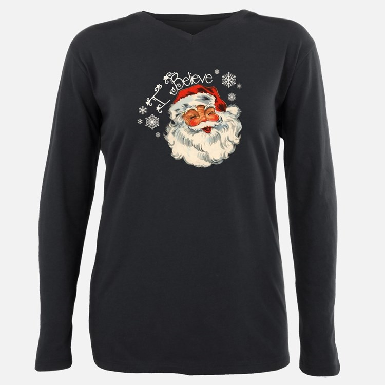 Cute Santa Plus Size Long Sleeve Tee