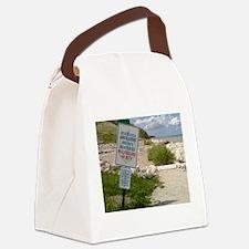 A scenic beach in Ozaukee County, Canvas Lunch Bag