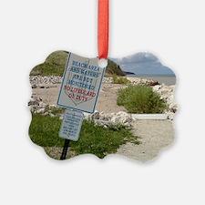 A scenic beach in Ozaukee County, Ornament