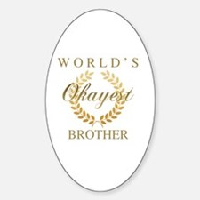 Cute Worlds best brother Sticker (Oval)