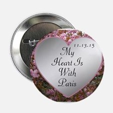 "My Heart Is With Paris 2.25"" Button (10 pack)"