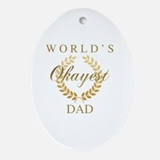 Cute World%27s best dad Oval Ornament