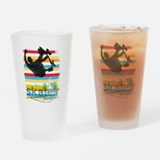 Unique Skateboarding Drinking Glass