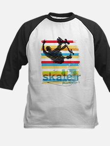Skateboarder Ink Sketch Jump on Ra Baseball Jersey