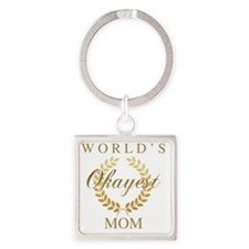 Cute Family humor Square Keychain