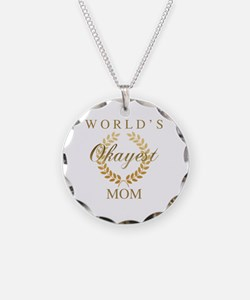 Unique World%27s okayest mom Necklace
