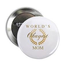 "Cute Worlds best cheer mom 2.25"" Button"