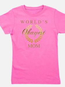 Cute World%27s okayest mom Girl's Tee