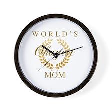 Unique World%27s greatest mom Wall Clock
