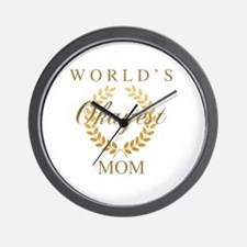 Cute World%27s okayest mom Wall Clock