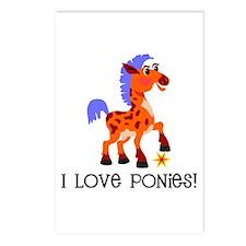 I Love Ponies Postcards (Package of 8)