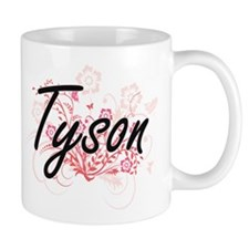 Tyson surname artistic design with Flowers Mugs