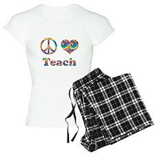 2-peace love teach copy.png Pajamas