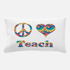 2-peace love teach copy.png Pillow Case