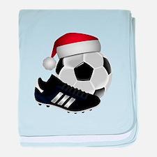 Christmas Soccer baby blanket