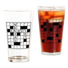 Cruciverbalist Crossword Lovers Drinking Glass