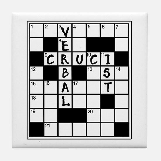 Cruciverbalist Crossword Lovers Tile Coaster