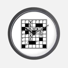 Cruciverbalist Crossword Lovers Wall Clock