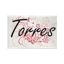 Torres surname artistic design with Flower Magnets