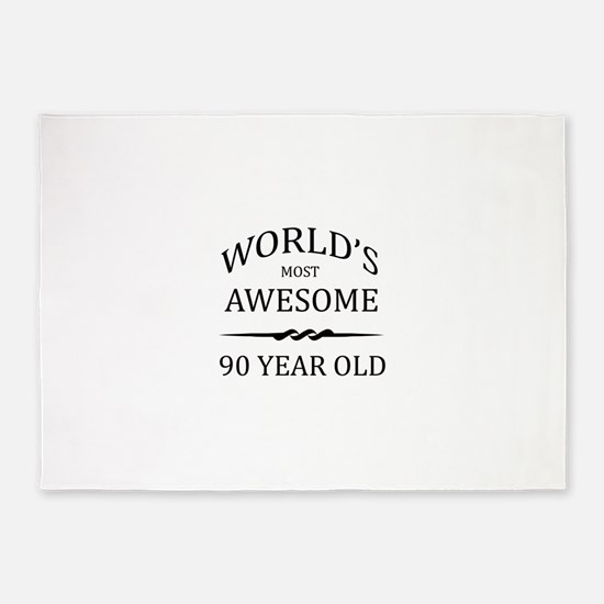 90th. Birthday 5'x7'Area Rug