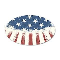 Grunge American Flag Wall Decal