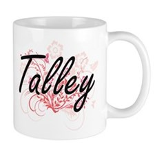 Talley surname artistic design with Flowers Mugs