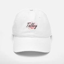 Talley surname artistic design with Flowers Baseball Baseball Cap
