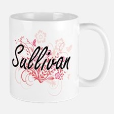 Sullivan surname artistic design with Flowers Mugs