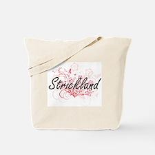Strickland surname artistic design with F Tote Bag