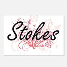 Stokes surname artistic d Postcards (Package of 8)
