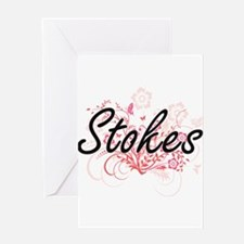 Stokes surname artistic design with Greeting Cards