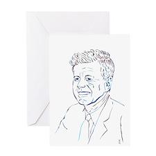 JFK - Bold Hues Greeting Cards
