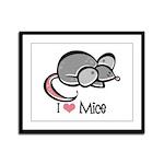 I Love Mice Framed Panel Print