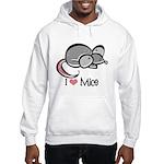 I Love Mice Hooded Sweatshirt